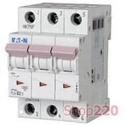 Автоматический выключатель трехфазный 6 А PL6-C6/3 Moeller PL6, уставка С