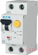 Диф. автомат 10 А, 30 мА, уставка C, PFL6 Eaton PFL6-10/1N/C/003