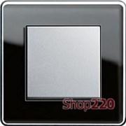 Выключатель черное стекло, Gira Esprit Glass «С»