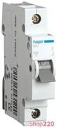 Автоматический выключатель 3 А, С, 1-фазный, MC103A Hager