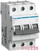 Автоматический выключатель 63 А, 3-фазный, уставка В, MB363A Hager