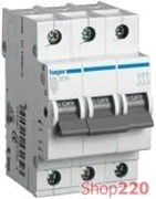 Трехфазный автоматический выключатель 20 А, уставка С, MC320A Hager