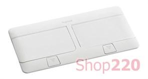 Выдвижной лючок для розеток в стол и пол, 8 модулей, белый, 54033 Legrand