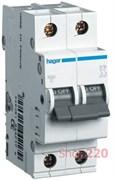Автоматический выключатель 4 А, 2 полюса, С, 6 kA MC204A Hager