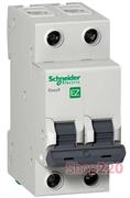 Автомат 6 А, 2 полюса, тип С, EZ9F34206 Schneider Easy9
