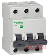 Автомат 50 А, 3 полюса, тип С, EZ9F34350 Schneider Easy9