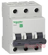 Автомат 63 А, 3 полюса, тип С, EZ9F34363 Schneider Easy9