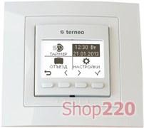 Терморегулятор недельный программируемый terneo pro, белый