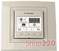 Терморегулятор для инфракрасных панелей terneo pro, слоновая кость
