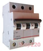 Автоматический выключатель 63А, 3 полюса, тип С, 419714 Legrand RX3