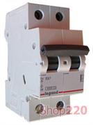 Автоматический выключатель 20А, 2 полюса, тип С, 419698 Legrand RX3