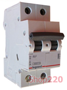 Автоматический выключатель 63А, 2 полюса, тип С, 419703 Legrand RX3