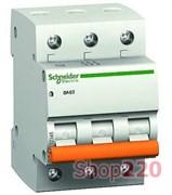 """Автомат 10A, 3-фазный, тип С, """"Домовой"""" 11222 Schneider Electric"""