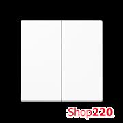 Клавиша 2-кл., белый, Jung A500 A595WW
