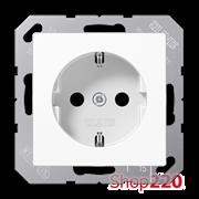 Розетка электрическая (механизм), белый, Jung A500 A1520WW
