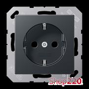 Розетка электрическая (механизм), антрацит матт, Jung A500 A1520BFANM