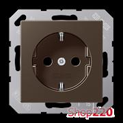 Розетка электрическая (механизм), мокка, Jung A500 A1520MO