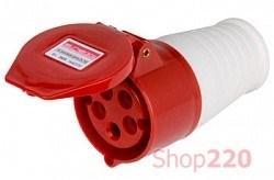 Силовая розетка 16А, 380В, 5 полюсов, переносная, e.socket.pro.5.16