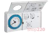 Термостат аналоговый с функцией суточного таймера, EK411 Hager