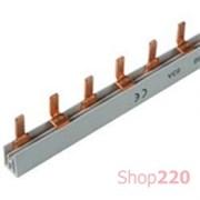 Шина соединительная штыревая, 2-полюсная, 12 модулей, KB263A Hager