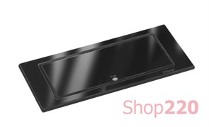 Вращающийся блок розеток 220В+USB EVOline BackFlip, черное стекло
