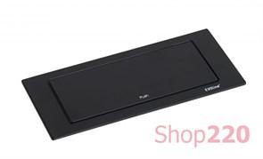 Вращающийся блок розеток 220В+USB EVOline BackFlip, черный