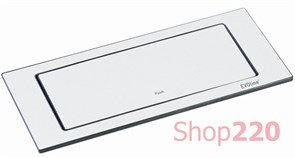 Вращающийся блок розеток 220В+USB EVOline BackFlip, белый