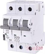 Автоматический выключатель 6А, 3 полюса, тип C, Eti 2185312