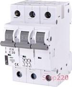 Автоматический выключатель 20А, 3 полюса, тип C, Eti 2185317