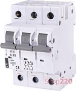 Автоматический выключатель 25А, 3 полюса, тип C, Eti 2185318