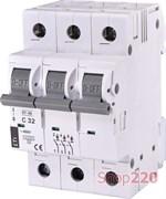 Автоматический выключатель 32А, 3 полюса, тип C, Eti 2185319