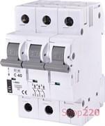 Автоматический выключатель 40А, 3 полюса, тип C, Eti 2185320