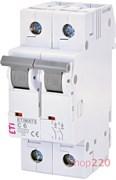 Автоматический выключатель 6А, 2 полюса, тип C, Eti 2143512