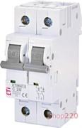 Автоматический выключатель 20А, 2 полюса, тип C, Eti 2143517