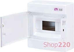 Щит на 8 модулей навесной, белая дверь, ECT 8PO ETI 1101005