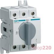 Выключатель нагрузки 40 А модульный, 3 фазы, HAB304 Hager