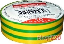 Изолента самозатухающая, 20м, желто-зеленая, e.tape.pro.20.yellow-green Enext p0450014