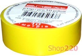 Изолента самозатухающая, 20м, желтая, e.tape.pro.20.yellow Enext p0450009