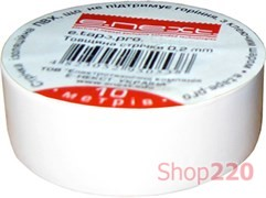 Изолента самозатухающая, 10м, белая, e.tape.pro.10.white Enext p0450004