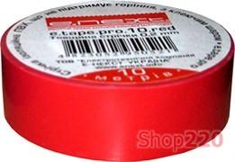 Изолента самозатухающая, 20м, красная, e.tape.pro.20.red Enext p0450008