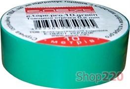 Изолента самозатухающая, 20м, зеленая, e.tape.pro.20.green Enext p0450010