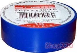Изолента самозатухающая, 10м, синяя, e.tape.pro.10.blue Enext p0450005