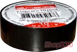 Изолента самозатухающая, 20м, черная, e.tape.pro.20.black Enext p0450013