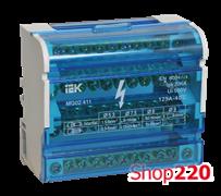 Кросс модуль на DIN-рейку в корпусе, 125А, 4 полюса, ШНК 4х11 IEK