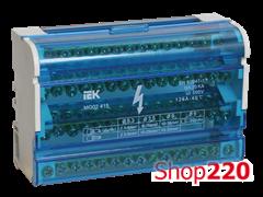 Кросс модуль на DIN-рейку в корпусе, 125А, 4 полюса, ШНК 4х15 IEK