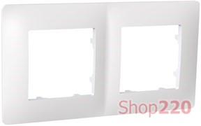 Рамка двойная CLASSIC, белый, PLK1020031 Plank Electrotechnic