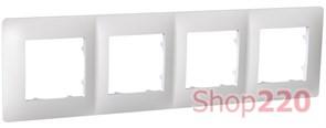 Рамка четвертная CLASSIC, белый, PLK1040031 Plank Electrotechnic