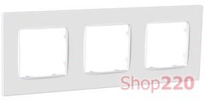 Рамка тройная NORDIC, белый, PLK1030032 Plank Electrotechnic