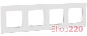 Рамка четвертная NORDIC, белый, PLK1040032 Plank Electrotechnic
