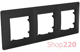 Рамка тройная CLASSIC, антрацит, PLK1030241 Plank Electrotechnic